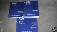 2002 Ford Mustang Gt Cobra Mach Service Shop Workshop Repair Manual Set FACTORY