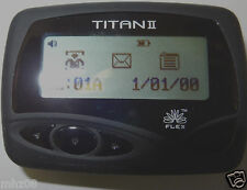 SUN TELECOM TITAN II...AWESOME ALPHANUMERIC PAGER WITH HOLSTER. GREAT FIRE PAGER
