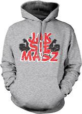 Jak Sie Masz Poland How Are You Polish White Eagle Symbol POL Hoodie Sweatshirt