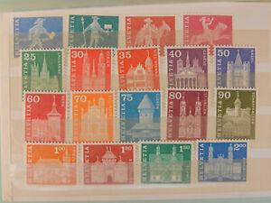 Schweiz Satz 696 -713 Freimarken postfrisch