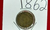 1862 P 1c Copper Nickel Indian Small Cent Penny CHOICE VG VERY GOOD / FINE CIRC