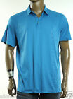 NEW MENS CALVIN KLEIN LIQUID COTTON SIGNATURE LOGO DANISH BLUE POLO SHIRT XL