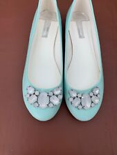 Dorothy Perkins Light Blue size 7 flats, new, never work with embellishment