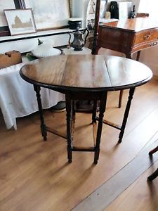 Antique Oak Drop Leaf side table Ref 2676