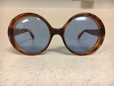 A2 Vintage Sunglasses Retro Collectors Costume Art Scene Round Blue Lens