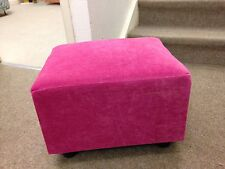 Footstool / Small Box Stool / Pouffe / Gift / Present / Pink Velvet British Made