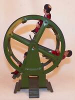 Vintage Ferris Wheel Toy Tin Lithograph Boy Girls Hand Crank As Is