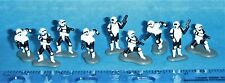 GALOOB STAR WARS MICRO MACHINES 66080 IMPERIAL BIKER SCOUTS SET OF 9 Complete