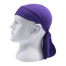 Unique Fitted Solid Tied BACK BANDANA DOO RAG Do Du Motorcycle Skull Cap Men Hat