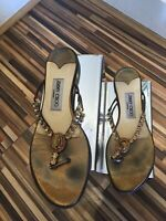Jimmy Choo Diamante Thong Sandals Shoes Flips Flops Flats