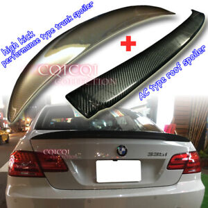 Carbon BMW E92 Coupe A type Roof + High Kick Performance type Trunk Spoiler◎