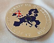 Brexit Moneda De Plata Gran Bretaña Deje UE Europa Referendem Vote Contemporánea