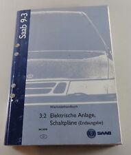 Manuel Saab 9-3 Électrique Schémas de Câblage Modèle Année 1999 Support 1999