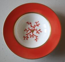 "RAYNAUD LIMOGES CRISTOBAL CORAL RIM SOUP 8 1/4""   NEW"