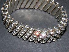 clear rhinestone stretch bracelet