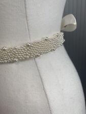 Lily Bella Pearl Wedding Belt Sash Bridal Applique Motif Crystal Rhinestone