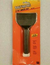 "USA Made Baltimore Tool Works 3 1/2"" x 7"" Masons Brick Set Chisel New Old Stock"