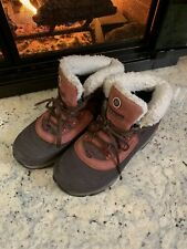 Merrell Womens Thermo Winter Boots Maroon Lace Up Ankle Waterproof Snow 8.5