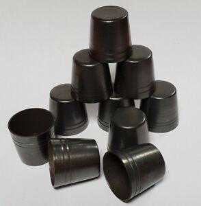 10 mixed STANDARD BRASS WALKING STICK FERRULES 15mm - 19.5mm for Stick Making