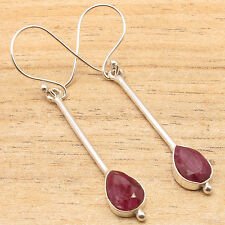 Free Shipping on Additional Items! 925 Silver Plated Natural Red Ruby Earrings