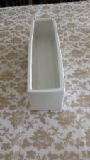 Contemporary Modern White  Flower Ceramic Vase Rectangle