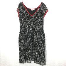eshakti Woemn's Size Custom Dress Full Skirt Star Pleated V-Neck Red