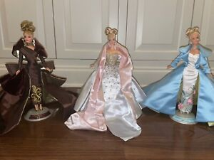 Lot of 3 Serenade in Satin, Portrait in Taffeta & Billions Of Dreams Barbie