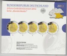 Alemania Set de Monedas Recordatorias 2012 Neuschwanstein Pulida Placa Emb. Orig