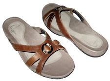 ca85e08b5 NEW TEVA LILLIE LUXE SLIDE SANDAL BROWN LEATHER SLIP ON SLIDES SANDALS  WOMENS