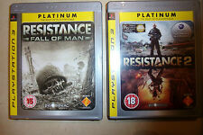2 x BOXED SONY PLAYSTATION 3 PS3 GAMES RESISTANCE 2 + RESISTANCE FALL OF MAN