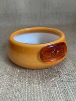 Holmegaard Michael Bang Art Glass Dog Bowl Palet Pallette Series Mid Mod