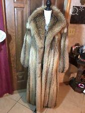Luxurious Long Genuine Fox Fur Coat full length Women