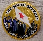 The South Secedes - Civil War Colorized Golden Kennedy Half Dollar