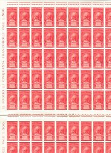 s34968 ITALIA 1958 MNH P. PNEUMATICA L. 20 DOPPI FOGLI INTERI NON PIEGATI