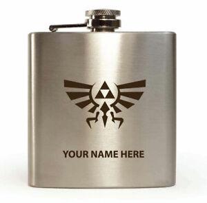 Personalised Hip Flask legend of zelda