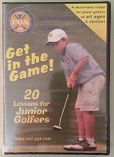 GET IN THE GAME ! 20 LESSONS FOR JUNIOR GOLFERS   DVD NEW