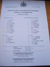 15/09/2003 Newcastle United Reserves v Wolverhampton Wa