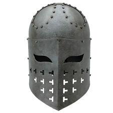 Medieval Fully Functional Spangenhelm 16 Gauge Steel  Battle War Helmet