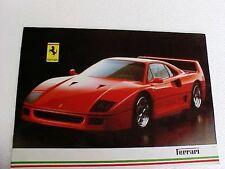 Ferrari F40 Sales Brochure Maranello Testarossa 412 328 Mondial GTB GTS 10/87