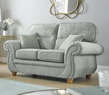 Claremont 2 Seater Fabric Sofa Settee Vulcan Chalk Pattern Fabric