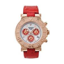 Mulco MW3-70602-163 Bluemarine Chronograph Red Leather Band Watch
