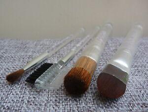 CLINIQUE 4 pcs Makeup Brush Set with travel pouch, Brand NEW