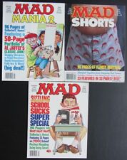 3 ISSUES~1989 SUPER SPECIAL MAD MAGAZINE: MANIA 2~SHORTS~SIZZLING SCHOOL SUCKS