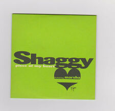 SHAGGY piece of my heart CD 2 track promo in special card sleeve  uk Electronica