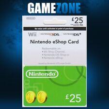 Nintendo e-Shop £25 Card Code - £25 GBP UK eShop Switch / 3DS / DS / Wii / Wii U