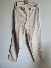 Uniqlo Cotton Linen Relaxed Trousers Beige - Large