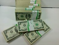 100 CIRCULATED $2 NOTES From 2003A-2013 Two Dollar BILLS  ($200 Face Value)