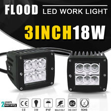 18W 3X3 Inch LED work Light Cube PODS OFFROAD SUV 4WD ATV VS 50/42/20 Polaris