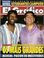 MARADONA & PELE together in Brazil - El Grafico # 3945 magazine Argentina 1995