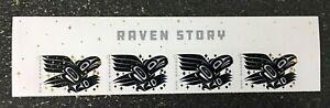 2021USA Forever Raven Story - Header Block of 4  mint